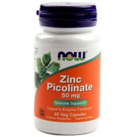 ZINC PICOLINATE 50 mg NOW  (60 таб)