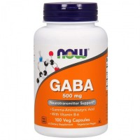GABA 500 mg NOW (100 капс)